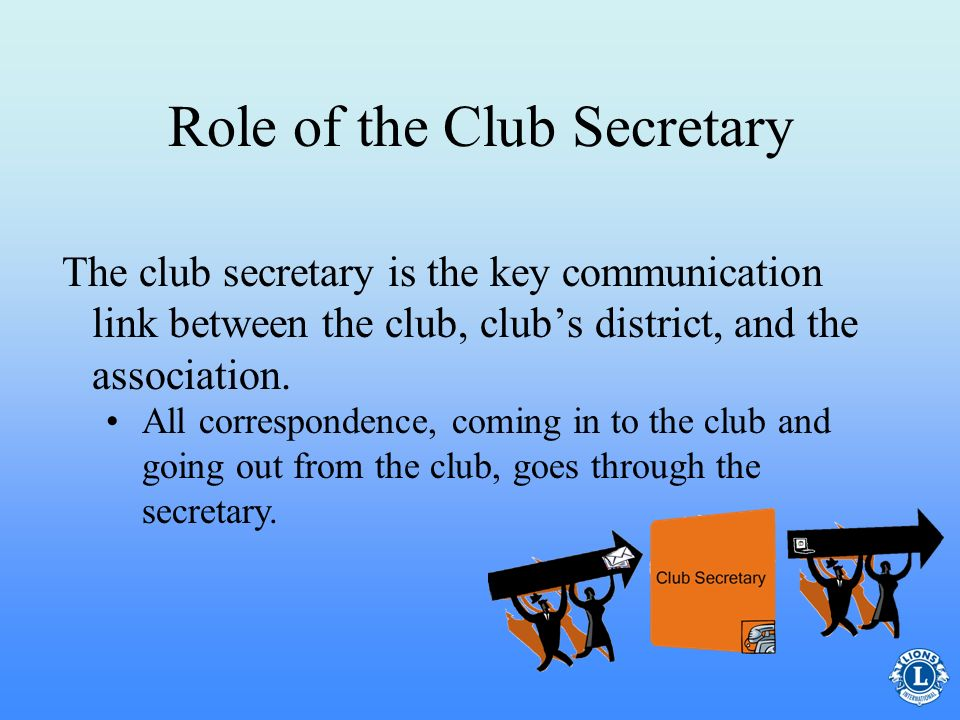 Role of the Club Secretary