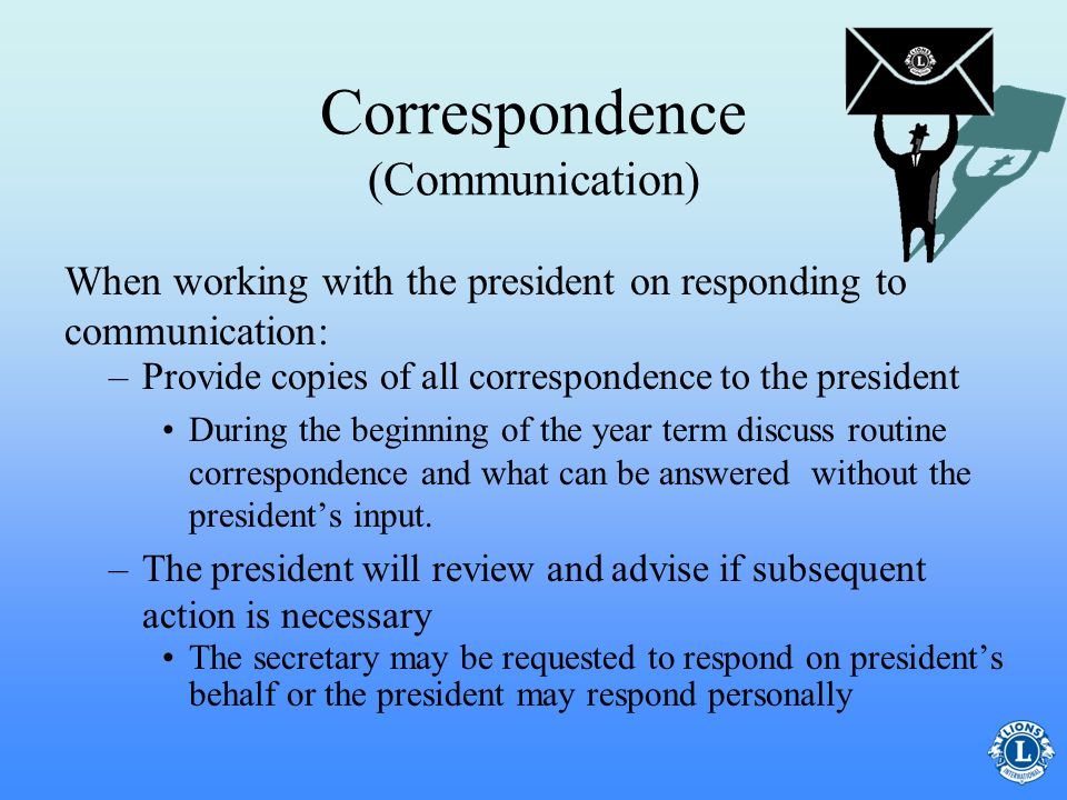 Correspondence (Communication)