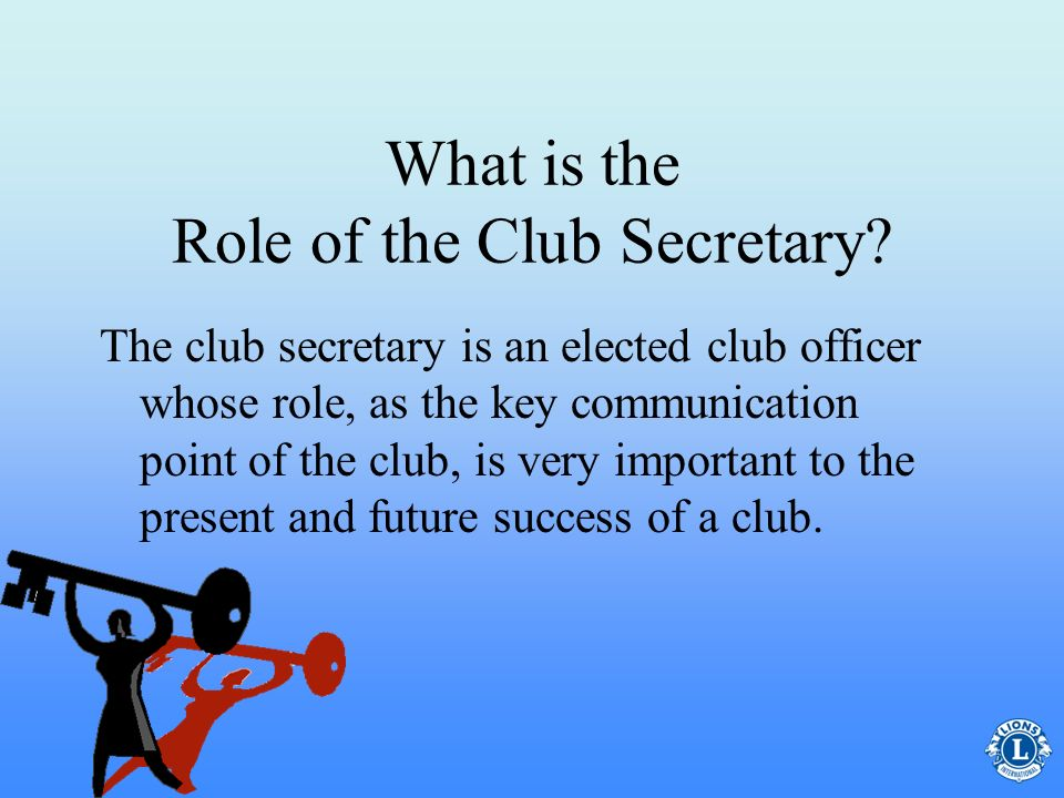 What is the Role of the Club Secretary