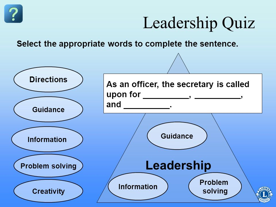 Leadership Quiz Leadership