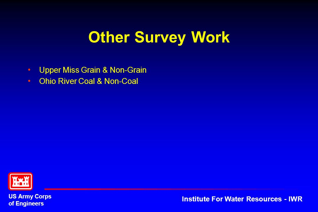 Other Survey Work Upper Miss Grain & Non-Grain
