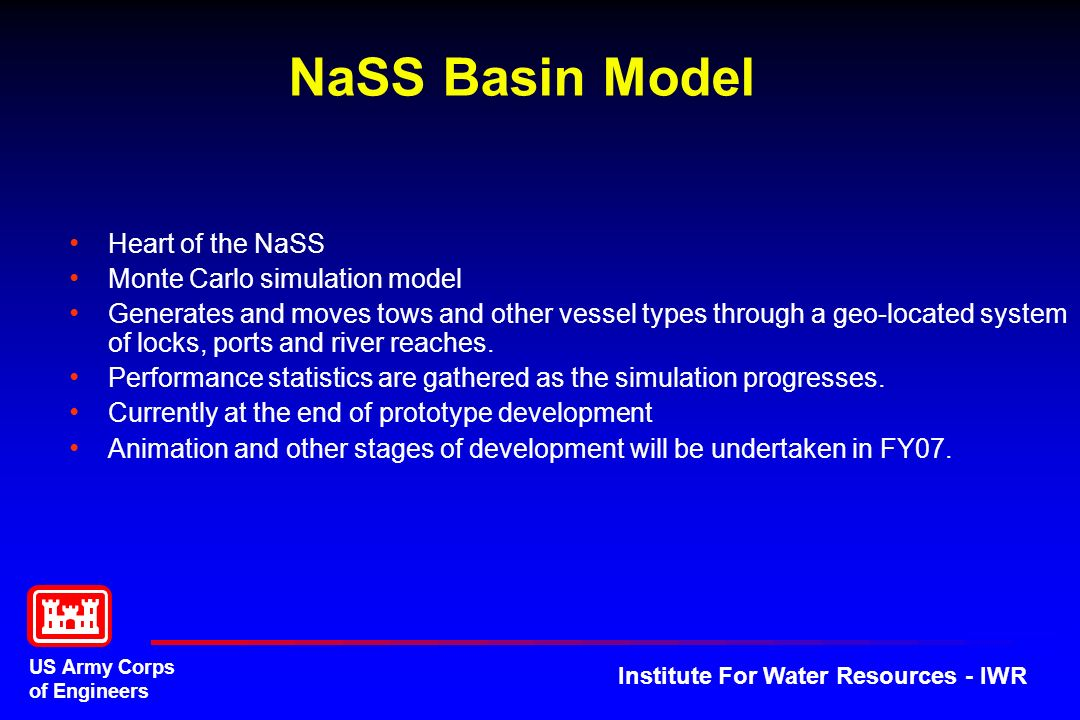 NaSS Basin Model Heart of the NaSS Monte Carlo simulation model