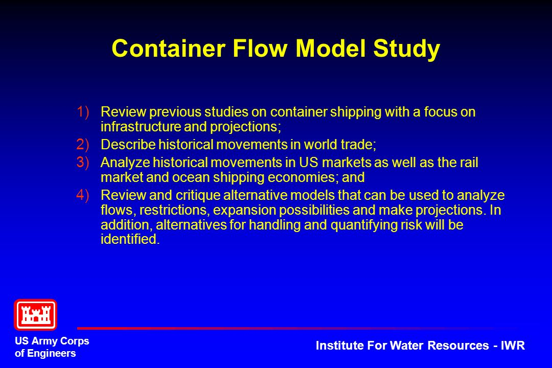 Container Flow Model Study