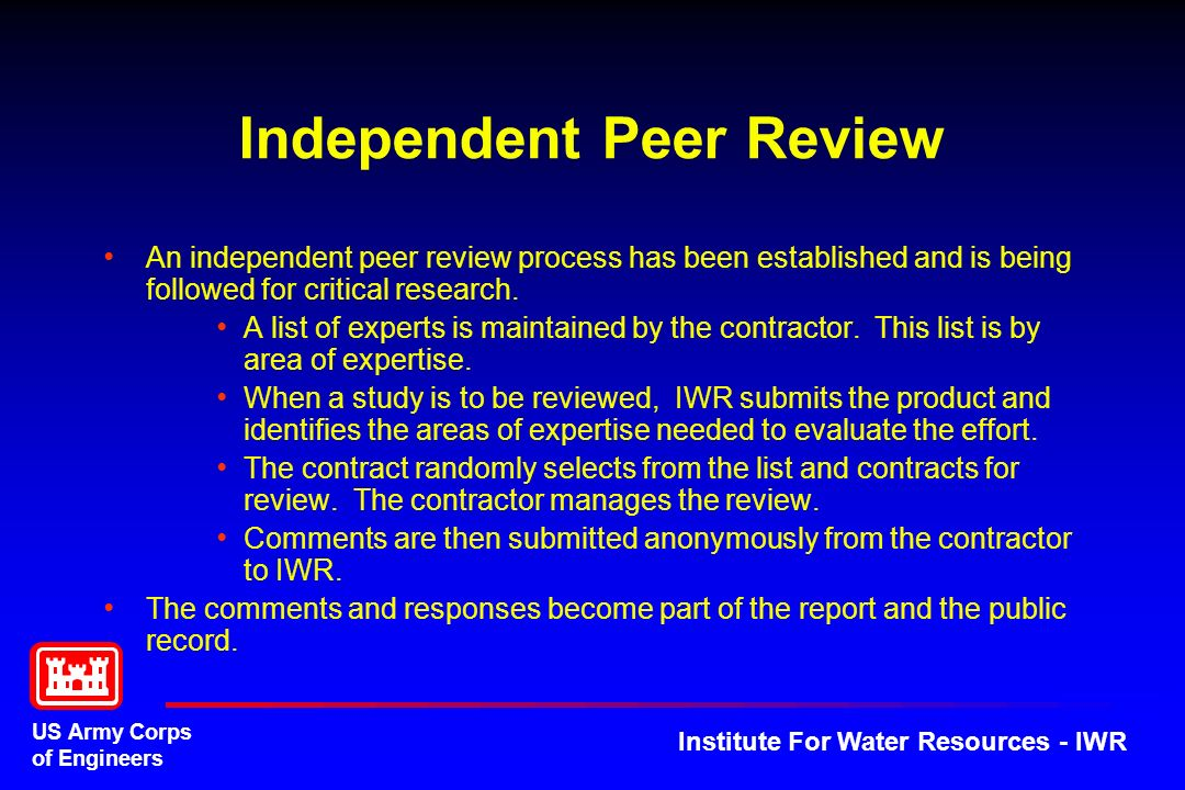 Independent Peer Review
