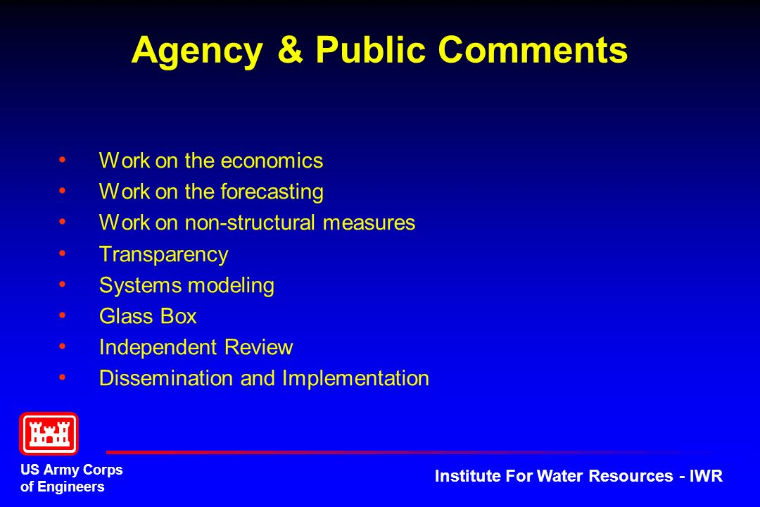 Agency & Public Comments