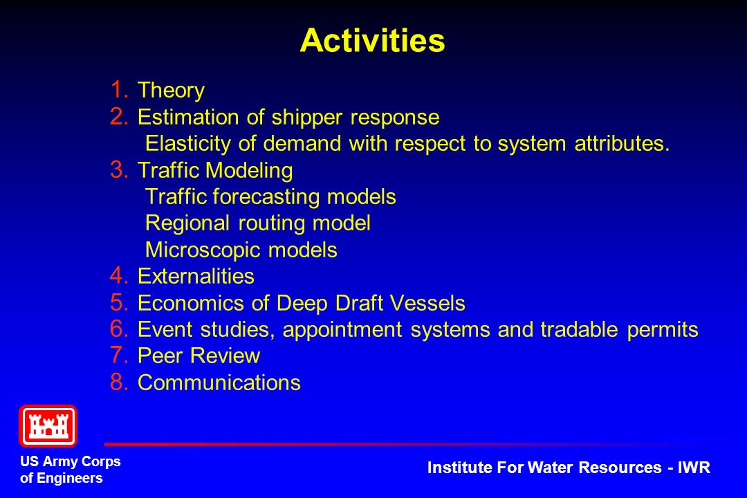 Activities Theory Estimation of shipper response