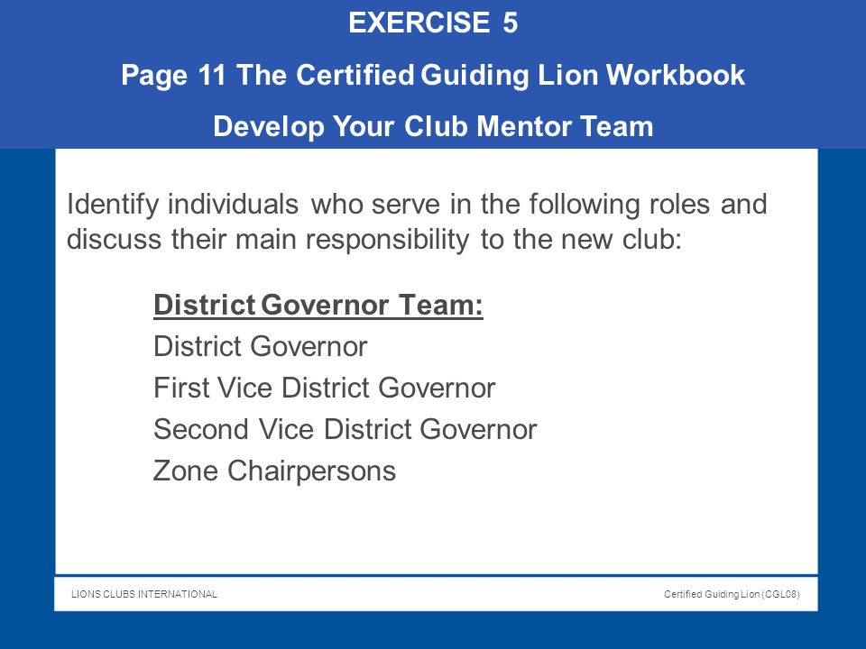 Page 11 The Certified Guiding Lion Workbook