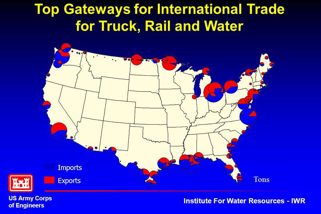 Top Gateways for International Trade for Truck, Rail and Water