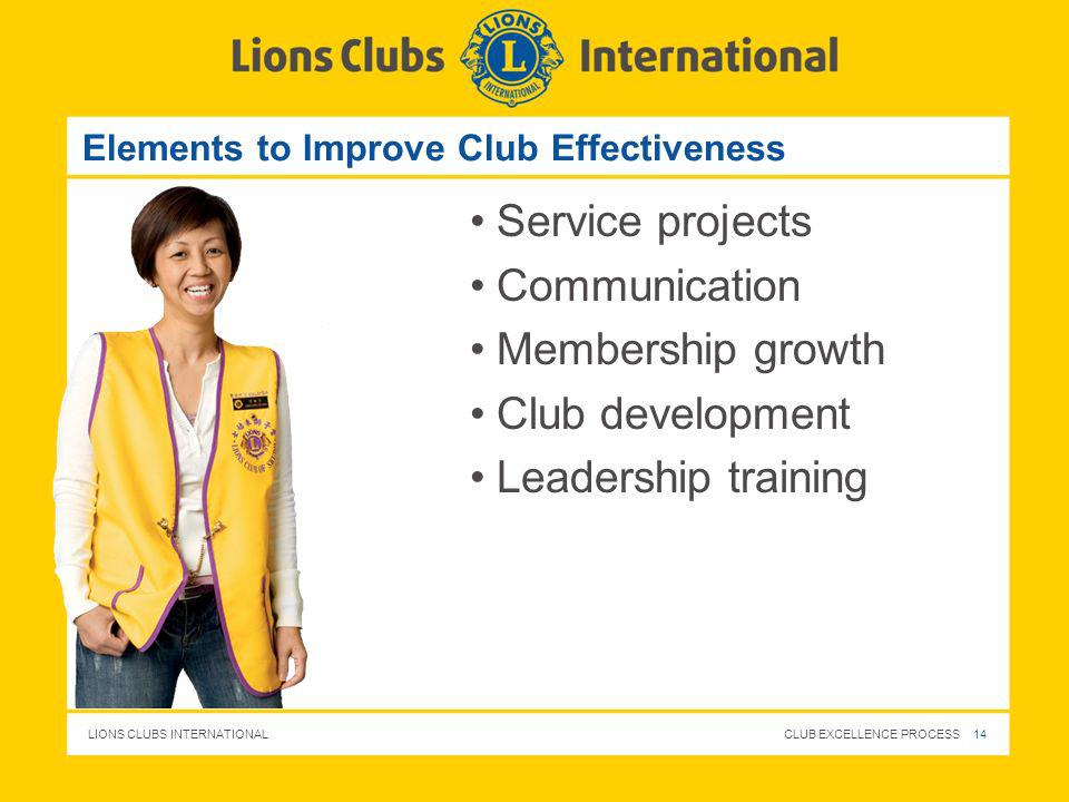 Elements to Improve Club Effectiveness