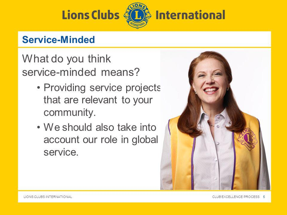 What do you think service-minded means