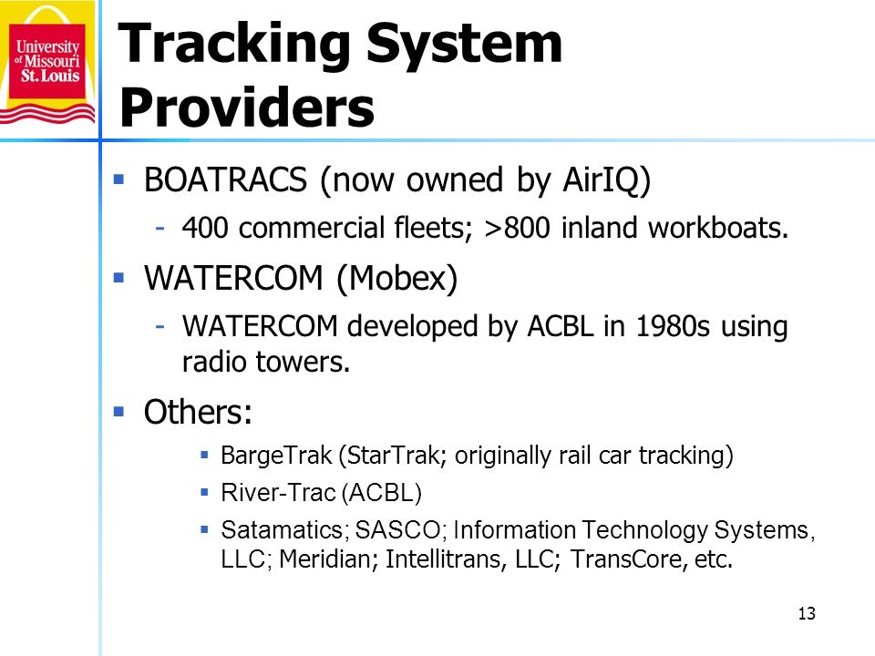 Tracking System Providers