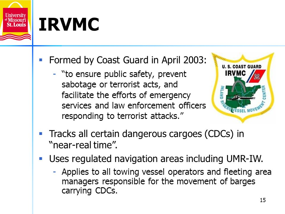 IRVMC Formed by Coast Guard in April 2003: