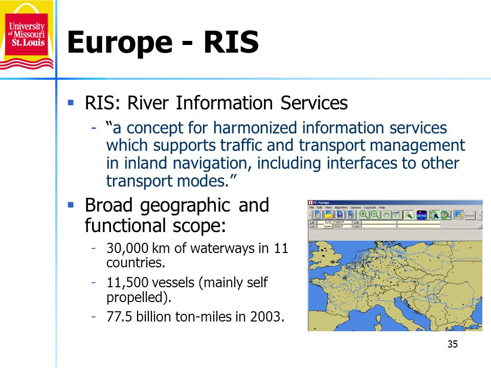 Europe - RIS RIS: River Information Services