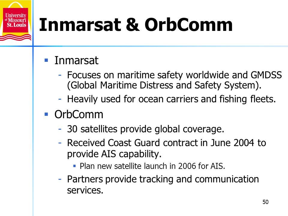 Inmarsat & OrbComm Inmarsat OrbComm