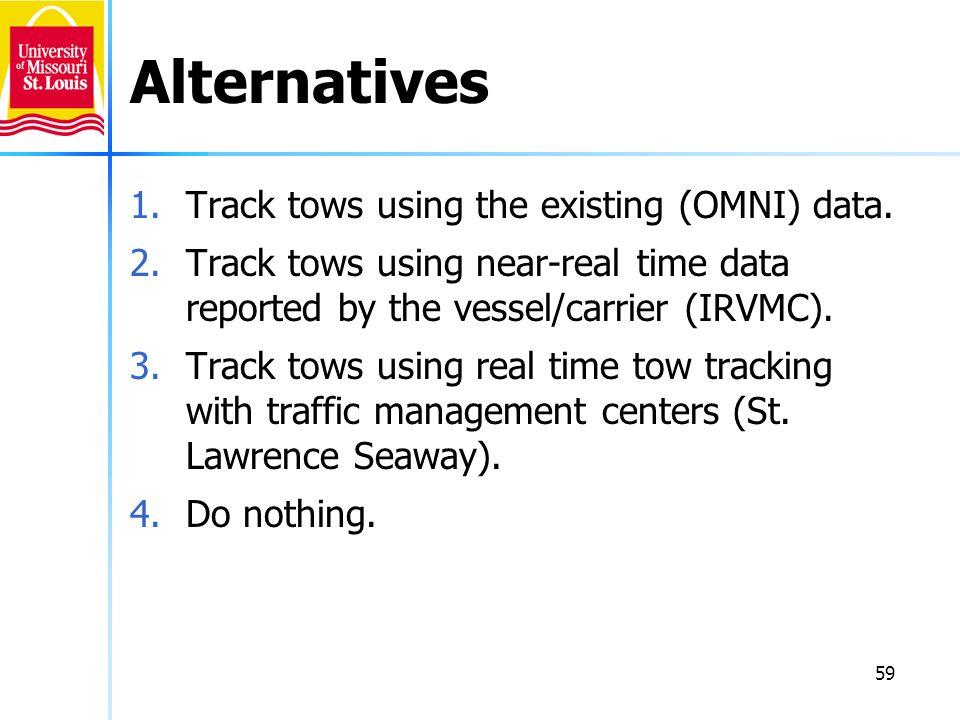 Alternatives Track tows using the existing (OMNI) data.