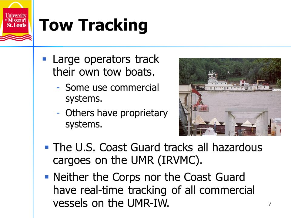 Tow Tracking Large operators track their own tow boats.