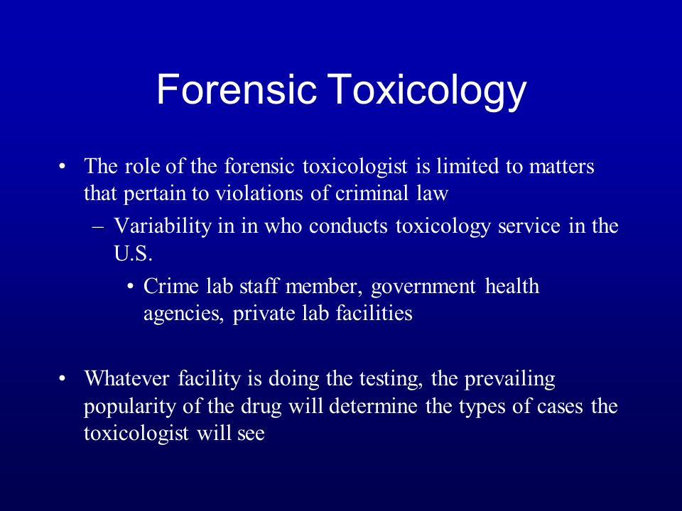 how to become a forensic toxicologist in canada