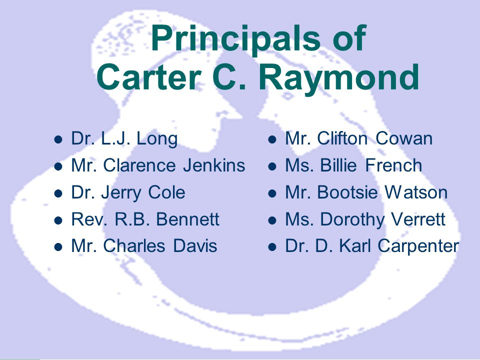 Principals of Carter C. Raymond