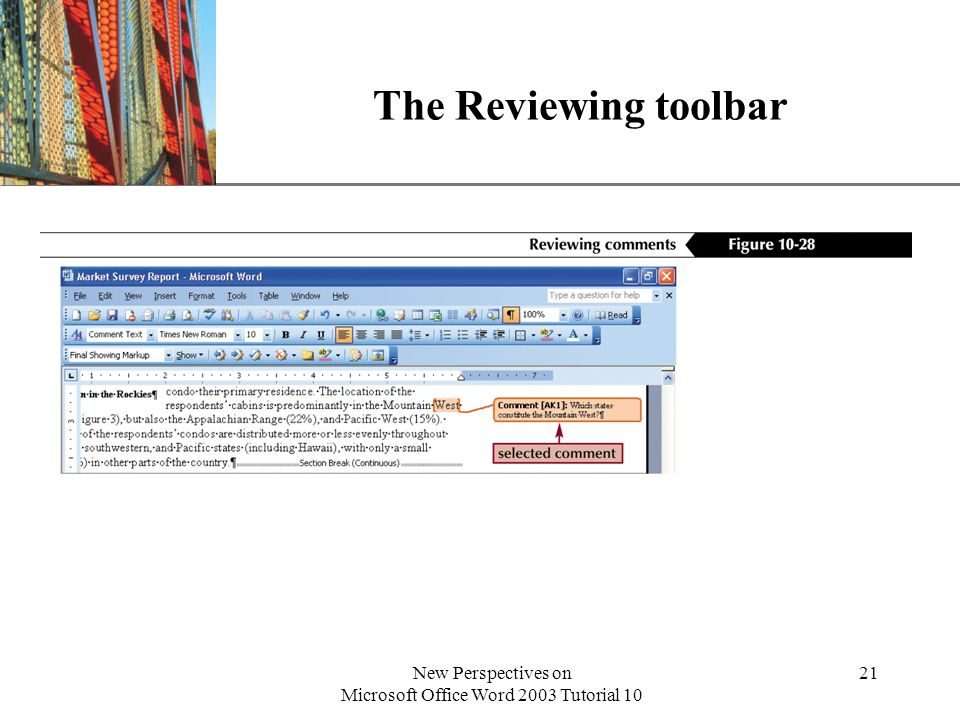 New Perspectives on Microsoft Office Word 2003 Tutorial 10