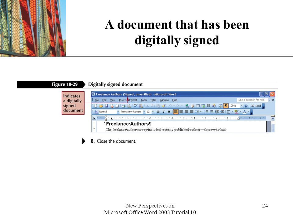 A document that has been digitally signed