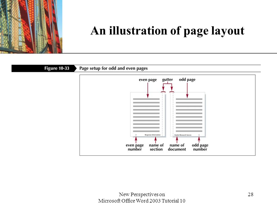 An illustration of page layout