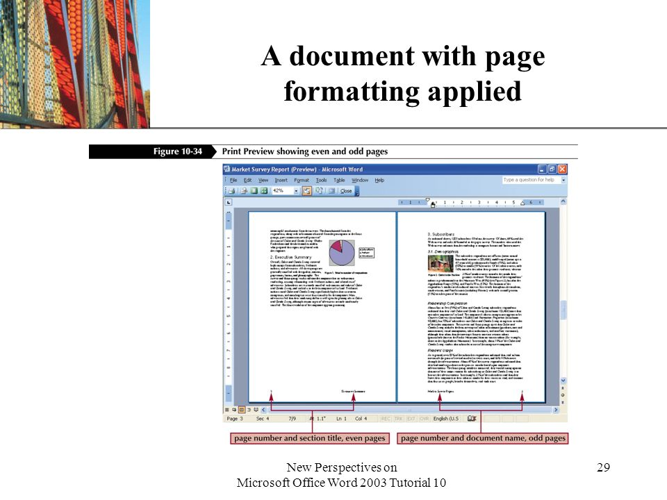 A document with page formatting applied