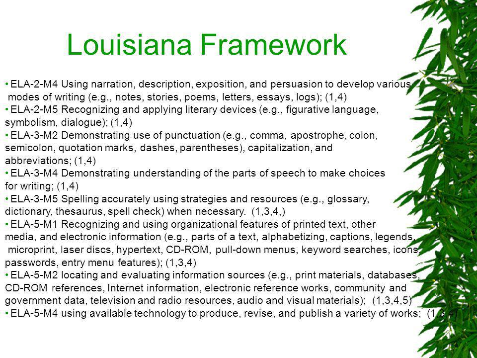Louisiana Framework