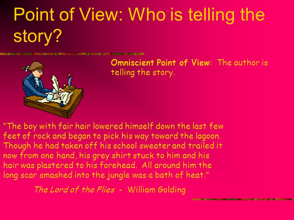 Point of View: Who is telling the story