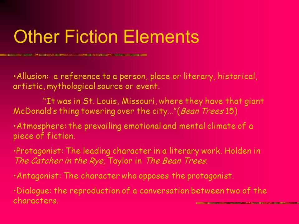 Other Fiction Elements