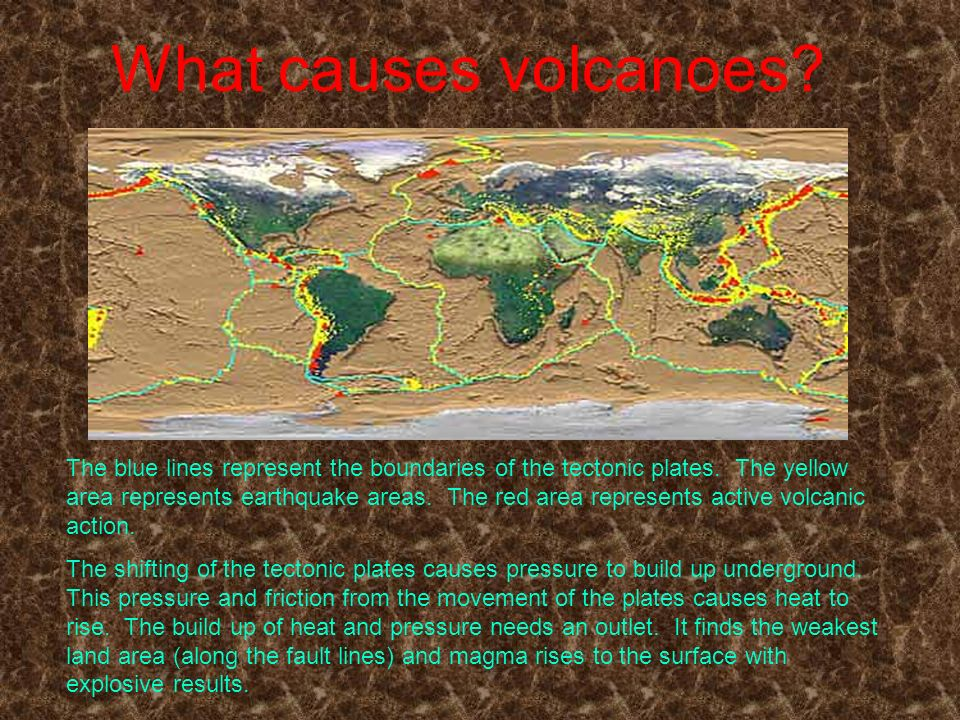 What causes volcanoes