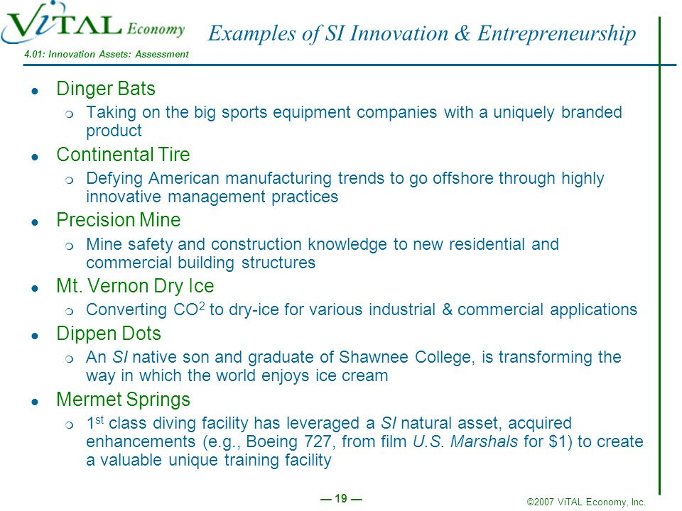 Examples of SI Innovation & Entrepreneurship