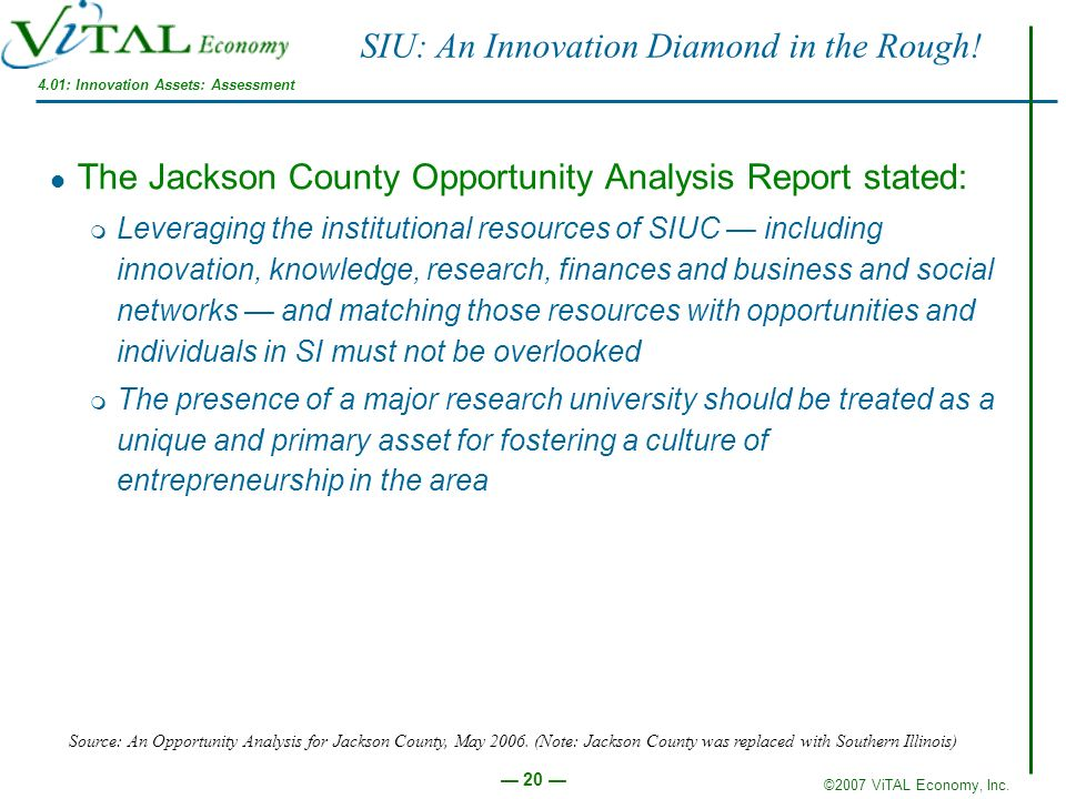 SIU: An Innovation Diamond in the Rough!