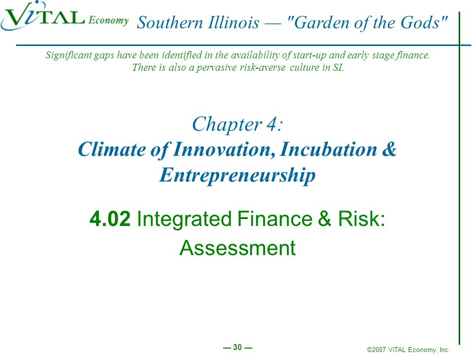 Chapter 4: Climate of Innovation, Incubation & Entrepreneurship
