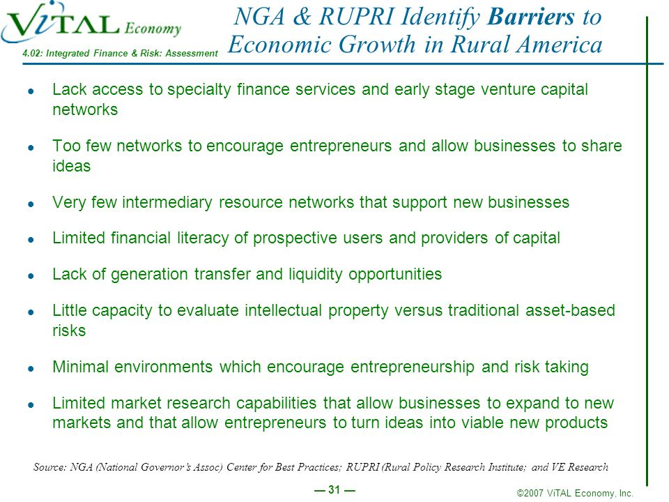 NGA & RUPRI Identify Barriers to Economic Growth in Rural America