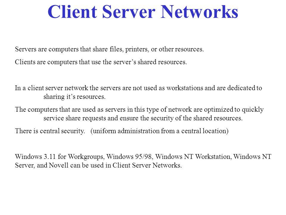 Client Server Networks