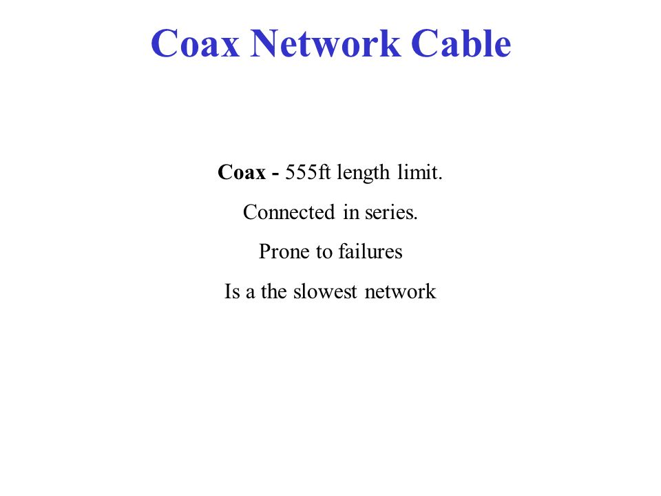 Is a the slowest network