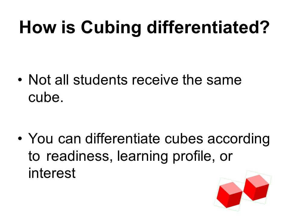 How is Cubing differentiated