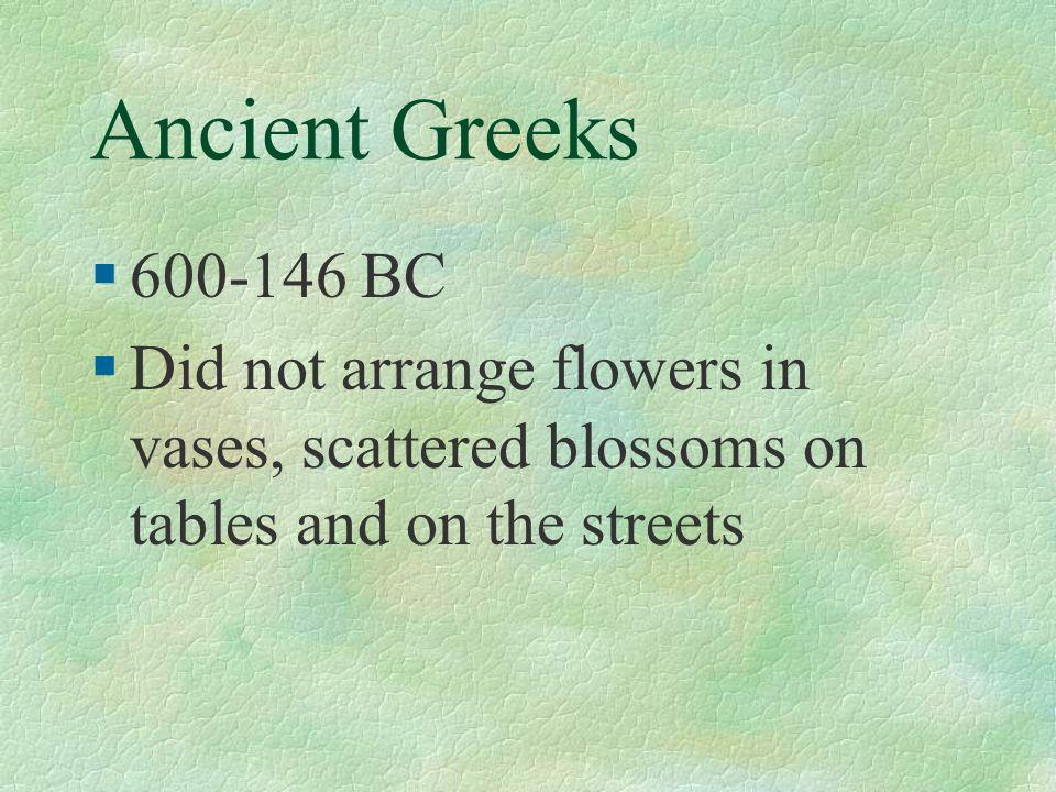 Ancient Greeks 600-146 BC.
