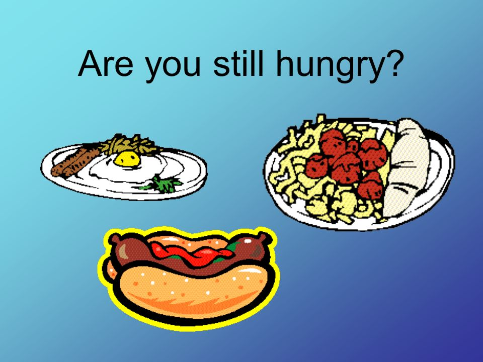 Are you still hungry