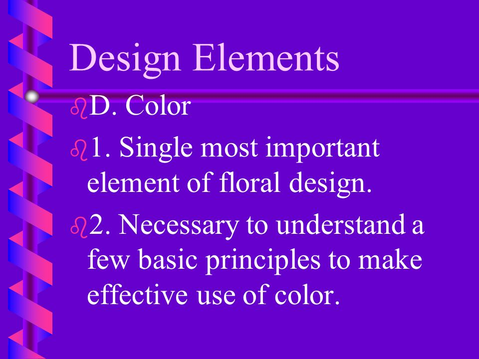 Design Elements D. Color