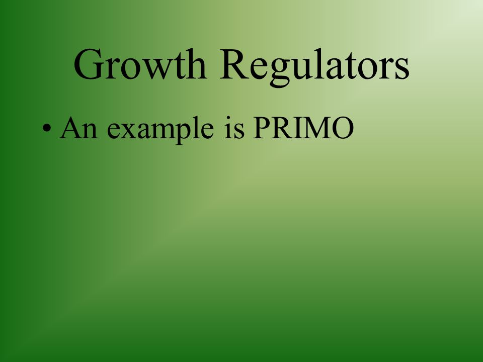 Growth Regulators An example is PRIMO