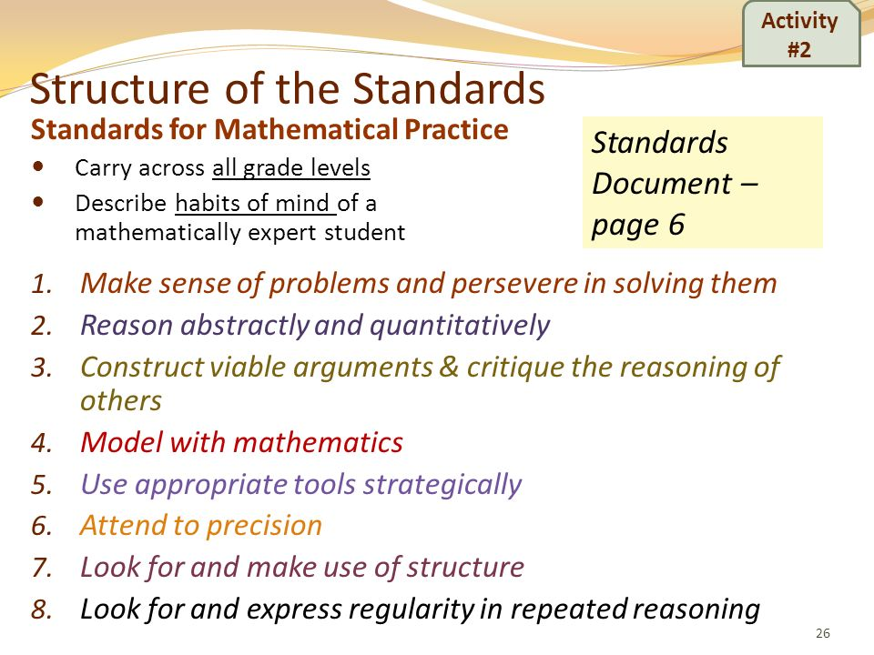 Structure of the Standards