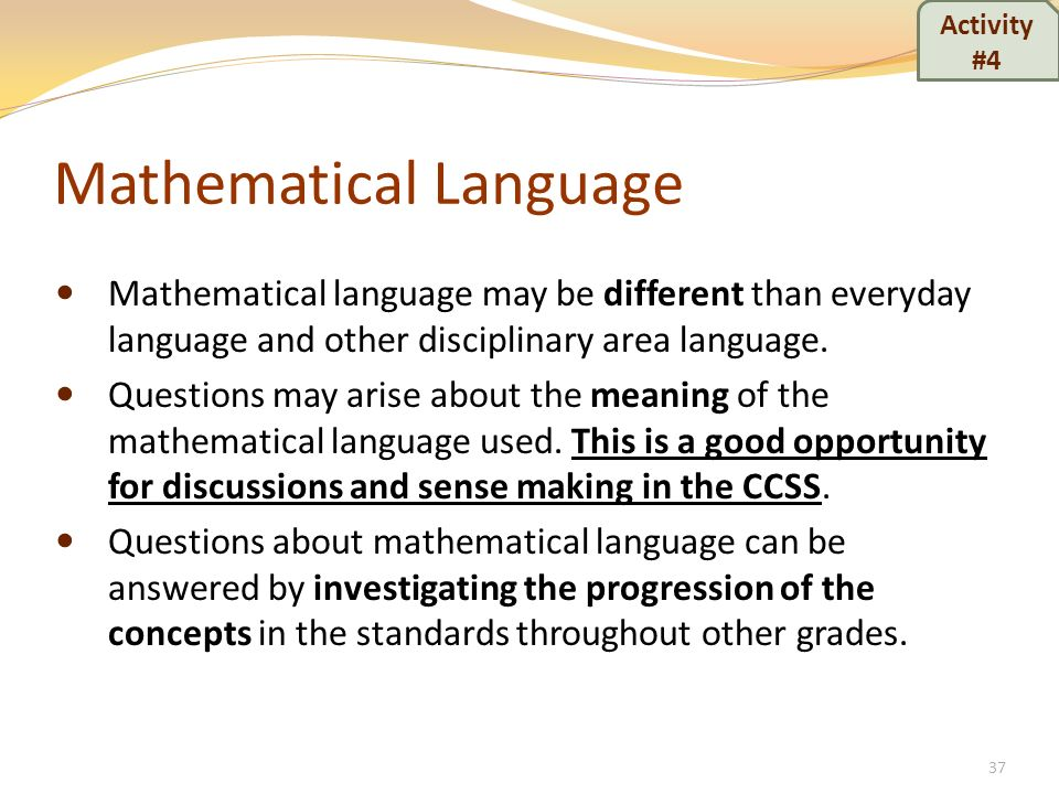 Mathematical Language