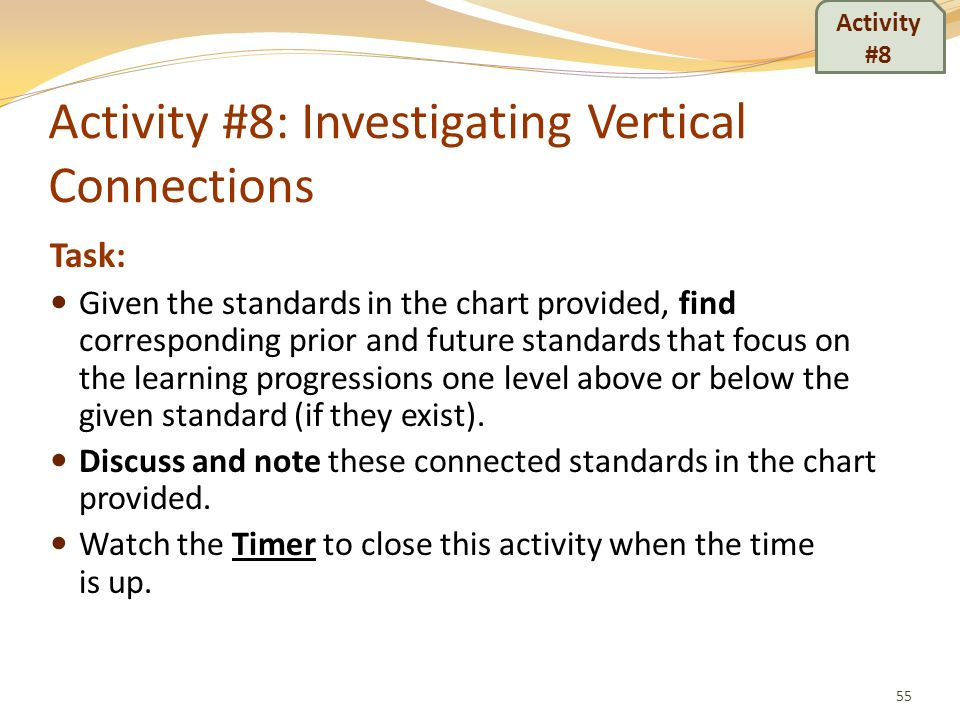Activity #8: Investigating Vertical Connections
