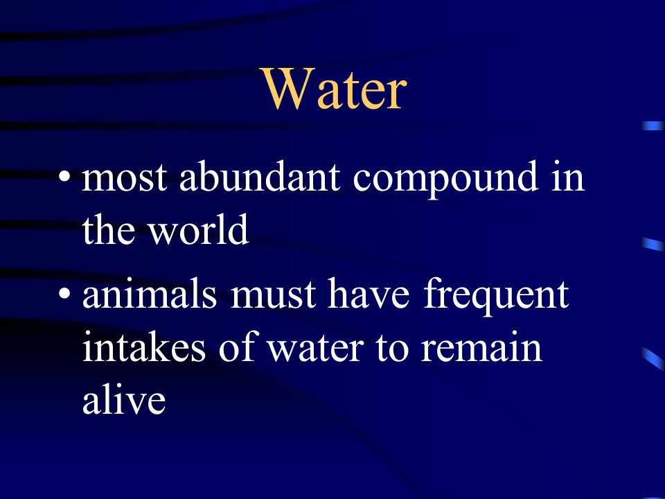 Water most abundant compound in the world