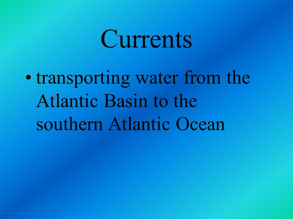 Currents transporting water from the Atlantic Basin to the southern Atlantic Ocean