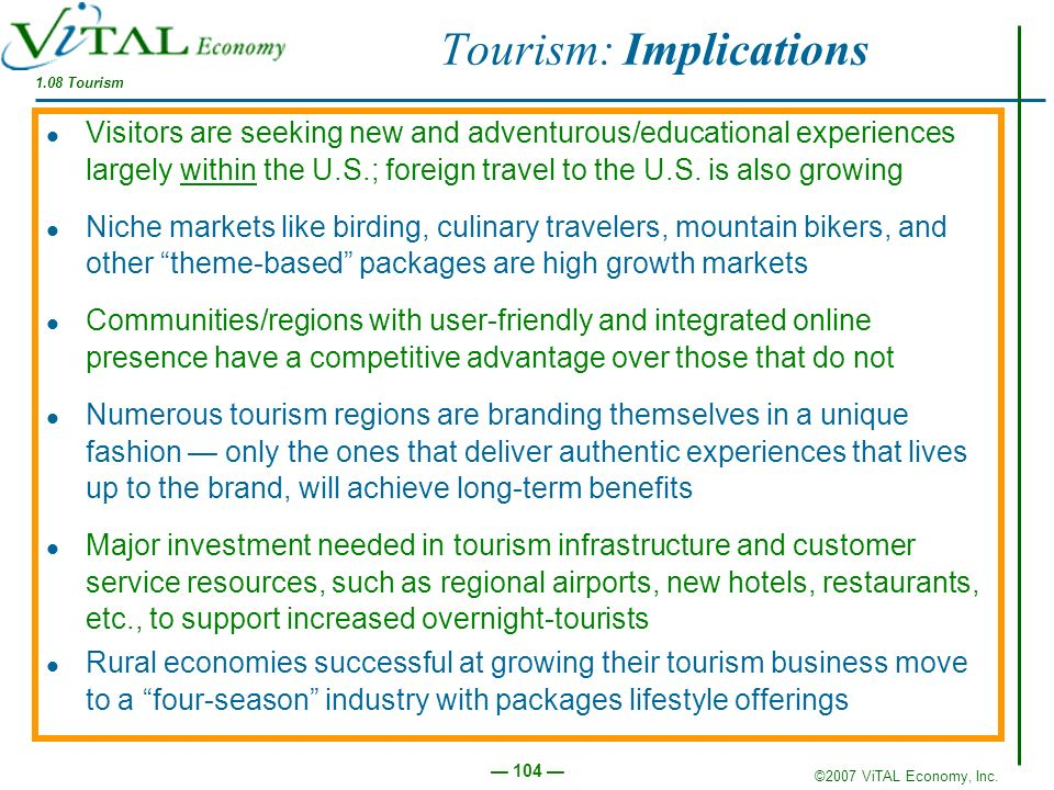 Tourism: Implications