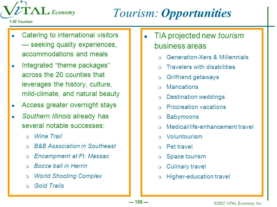 Tourism: Opportunities