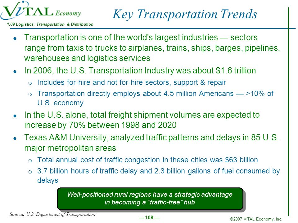 Key Transportation Trends