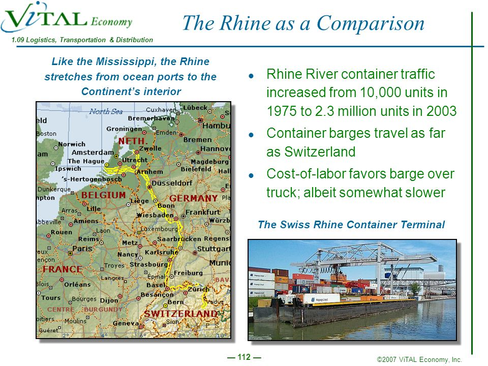 The Rhine as a Comparison
